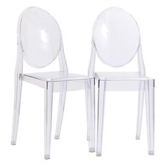 Modway Casper Stackable Dining Side Chairs - Set of 2 Clear - EEI-906-CLR