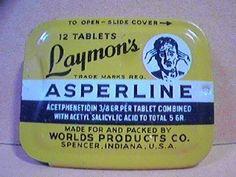 1930s aspirin  Laymon's Asperline