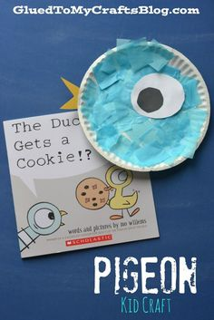 This Paper Plate Pigeon Kid Craft is not only super fun, simple & inexpensive BUT it also goes along perfectly with the Pigeon Presents series Preschool Books, Preschool Crafts, Crafts For Kids, Kindergarten Stem, Preschool Ideas, Fun Crafts, Eric Carle, Literacy Activities, Activities For Kids