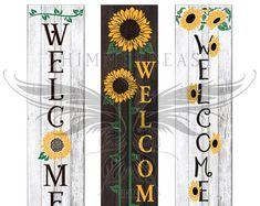 Welcome Signs Front Door, Wooden Welcome Signs, Front Porch Signs, Diy Wood Signs, Front Door Decor, Front Porches, Rustic Signs, Summer Porch Decor, Diy Porch