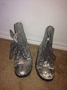 Sparkly hipster boots