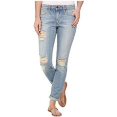 Joe's Jeans Japanese Denim Rolled Skinny in Sylvie Women's Jeans ($172) ❤ liked on Polyvore