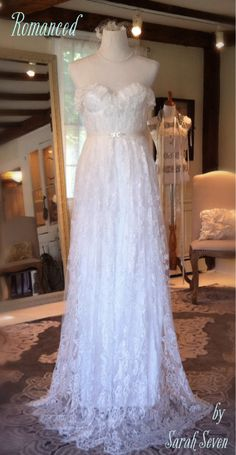 Romanced wedding dress by Sarah Seven! So romantic!  @  Everthine Bridal Boutique – a bridal shop serving Connecticut, Rhode Island, New York, Boston, and Beyond