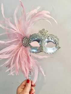A personal favorite from my Etsy shop https://www.etsy.com/listing/602433359/mask-for-glasses-pink-mask-mardi-gras