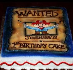birthday cakes for boys - Bing Images 5 Tier Wedding Cakes, Wedding Cakes With Cupcakes, Boys 1st Birthday Cake, Birthday Bash, Cowboy Theme Party, Cowboy Cakes, Cakes For Boys, Party Themes, Party Ideas
