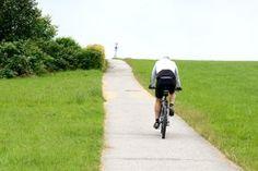 radfahrer auf rennrad