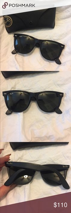 Rayban wayfarer 54mm Ray-ban wayfarer sunnies. Classic black 54mm. Authentic. Comes with its original case and cleaning cloth. Great condition! Ray-Ban Accessories Glasses