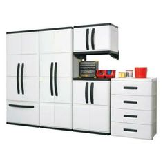 Hdx 25 In Plastic Cabinet 194983 At The Home Depot Organize Pinterest Storage Cabinets And