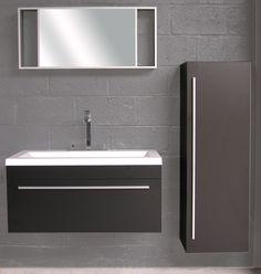 Badkamermeubel Ming zwart enkel - Meer modellen in onze showroom in Ninove http://zbm.be/badkamermeubel