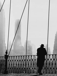 brooklyn bridge view (detail), 1950. the tallest building in the photo is the american international building, erected in 1930-32.