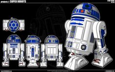 Astromech Droid belonging to Luke Skywalker, R2-D2 was introduced as a droid originally belonging to the Naboo defense forces.  Also known as Artoo.