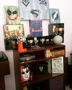 On instagram by trydentjoe #spaceinvader #unas (o) http://ift.tt/1VrE4sg shelf so far somethings on the top will be moved to the wall but its got Alil of everything. #comicbooks #dccomics #marvel #lootcrate #1upbox #tabletop #starwars #joker #superman #greenlantern #bluelanternflash #harrypotter #aliceinwonderland #halo5ammobox #mandms #funkopop #fallout4 #deadpool #harleyquinn #backtothefuture  #artfuelsmysoul #talknerdytome.