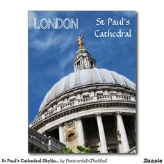 St Paul's Cathedral Skyline Portrait Postcard