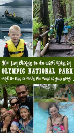 20+ fun things to do with kids in Olympic National Park in Washington State and 20+ tips to make the most of your stay