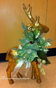 Holiday Deer made by Floral Designer at Michaels in Bala Cynwyd, PA  (1055)