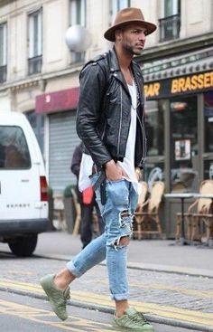 Adidas superstar verde. Fica muito legal com uma calça skinny rasgada. - mens work shoes, mens dress casual shoes, mens casual wear shoes