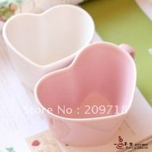 Super, Em forma de coração de cerâmica caneca de café copos casal(China (Mainland))