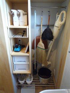 脱衣室7 Utility Closet, Moving Out, Ladder Bookcase, Washroom, Tool Storage, Home Organization, Laundry Room, Shelves, Cleaning