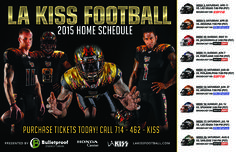 Los Angeles, we need YOU! We are now officially sponsoring the Los Angeles Kiss professional arena football team, so be sure to pick your tickets up for this season NOW! See below for more information on getting your tickets today.