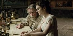 'Michael Lonsdale as Theon and Rachel Weisz as Hypatia in 'Agora', a film by Alejandro Amenabar, photo Teresa Isasi