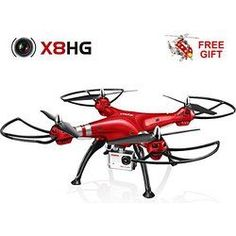 Syma X8HG New RC Quadcopter with 8MP Camera-Red