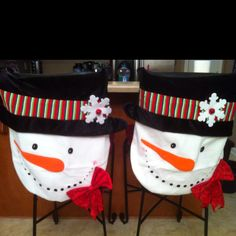 Cute Snowman Chair Covers