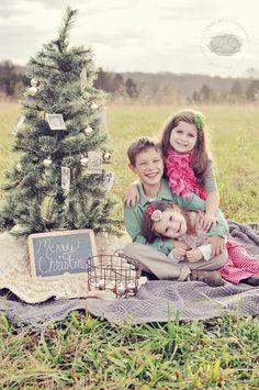 christmas photo with kids