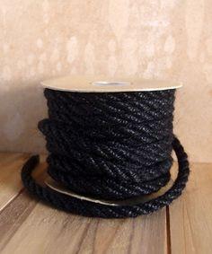 6mm Black Jute Twine 10 Yards Burlap Coffee Bags, Burlap Bags, Muslin Bags, Burlap Chair Sashes, Burlap Curtains, Burlap Pillows, Colored Burlap, Colored Rope, Mesh Ribbon