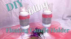 I made this cute floating candle holders using dollar tree items and products from Totally Dazzled. You really don't have to spend a fortune to have or make nice things. This DIY will be used for a Mother's Day table setting! However, it is pretty versatile as can be used for wedding, baby shower, valentines day decor. Or simply remove the pink wrap and it will fit in anywhere!