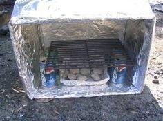 Create a cardboard oven.