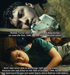 I was on the verge of tears whn I watched this scene -- Atonement