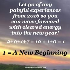 The energy of 2017 is one of a new beginning!  #numerology #newbeginning