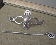 Celtico infinito loop alluminio scialle perno di nicholasandfelice