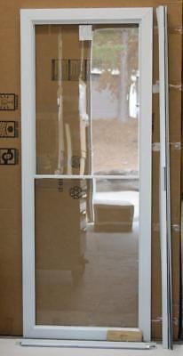 Doors 85892 Storm Door 32x80 Andersen Full Glass Self Storing W Screen White 25641 D127 New Buy It Now Only 99 95 On Ebay Storm Door Self Store Doors