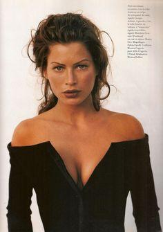 "dariabessonova: "" Vogue Paris November 1992 ""Nuit Endiablee"" Model: Carre Otis Photographer: Fabrizio Ferri Stylist: Monica Dolfini Hair: Monica Coppola Makeup: Fulvia Farolfi """