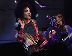 Prince responds to the crowd in Toronto on Tuesday, May 19, 2015. (Cindy Ord/NPG Records)