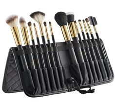 Tootloo®14 PC Makeup Brush Set –Superior Quality Makeup Brushes Durable, Lightweight and Made of Aluminum Ferule and Leather Standing Easel Case and Free Blender Brush Included – Great Gift Idea! ( Black ) > Quickly view this special  product, click the image : Travel Makeup