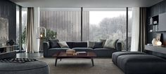 Freedom of composition and great comfort, a systemof sofas by Carlo Colombo characterized by a modern and essential style.