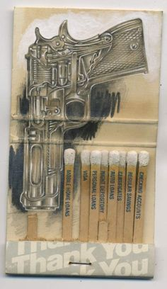 Matchbook Drawings by Jason D'Aquino