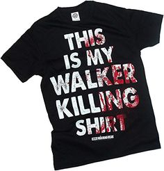 This Is My Walker Killing Shirt -- The Walking Dead T-Shirt, Medium. Officially licensed product from the popular television show The Walking Dead. Cool This Is My Walker Killing Shirt print. 100% cotton. Black.