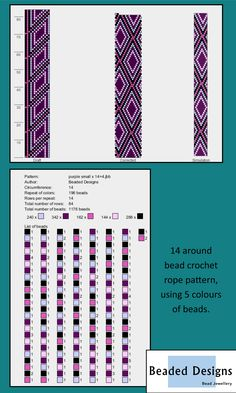 Bead Crochet Patterns, Bead Crochet Rope, Beading Patterns, Crochet Beaded Bracelets, Beaded Jewelry, Plastic Hinges, Bead Storage, Craft Shop, Beading Tutorials