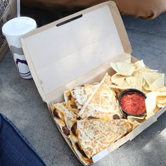 doubledilla combo $5.99. drink+chips n salsa+doubledilla steak. double portion of marinated steak, creamy jalapeno sauce and a 3 cheese blend, all grilled up in a flour tortilla