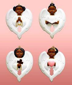 Black Christmas Angels | Black Angel Ornaments - African American ...