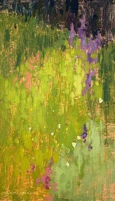 """Blooming Brushwork ❀ garden and still life flower paintings David Grossman Wildflower Patterns """"abstractartpainting"""" - pencil-drawings Abstract Landscape Painting, Landscape Art, Landscape Paintings, Abstract Art, Flower Paintings, Painting Flowers, Abstract Flowers, Landscape Design, Landscape Pictures"""