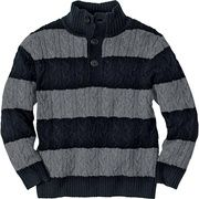 See #holiday look with this Cable Stripe Sweater. #hannaandersson