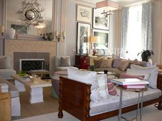 Easy elegance...Katherine Newman and Peter Cebulak Living Room for Kips Bay Showhouse