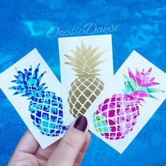 Pineapple Decal Sticker Car Decal Preppy Summer by OopsieDaysi