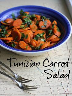 Tunisian Carrot Salad ~ Lydia's Flexitarian Kitchen #NorthAfricanFood #carrots #salad