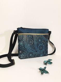 Small golden green crossbody purse Unique paisley designer handbag Every  day waterproof bag Perfect original gift from Ireland Irish made 2ab21b9568d64