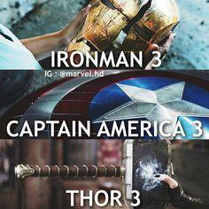 Iron man 3 || Captain America 3: Civil War || Thor 3: Ragnarok || Avengers, the end of an era